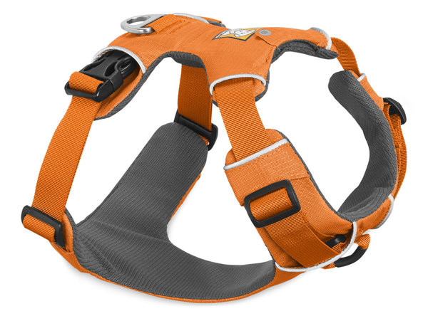 Ruffwear, Front Range™ Harness 2017, Komfortables Ganztags- Hundegeschirr, orange poppy