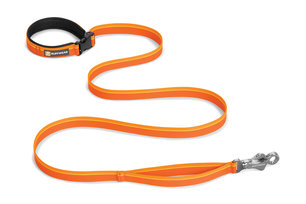 Ruffwear, verstellbare Alltags-Hundeleine Flat Out Leash, orange sunset