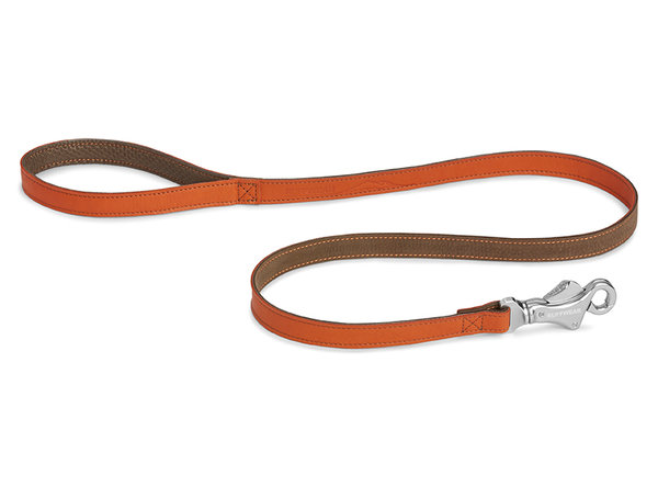Ruffwear, Lederleine Frisco / Timberland Leash, 120cm, Canyonland Orange (orange - braun)